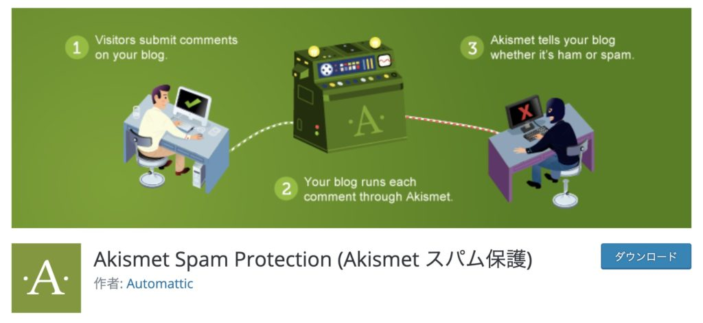 WordPressの本当におすすめプラグイン厳選7選 Akismet Spam Protection